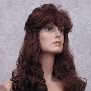 Long Brown Wavy Curly Retro Style Shag Wig